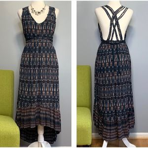 Jessica Simpson Green Print High Low Dress NEW